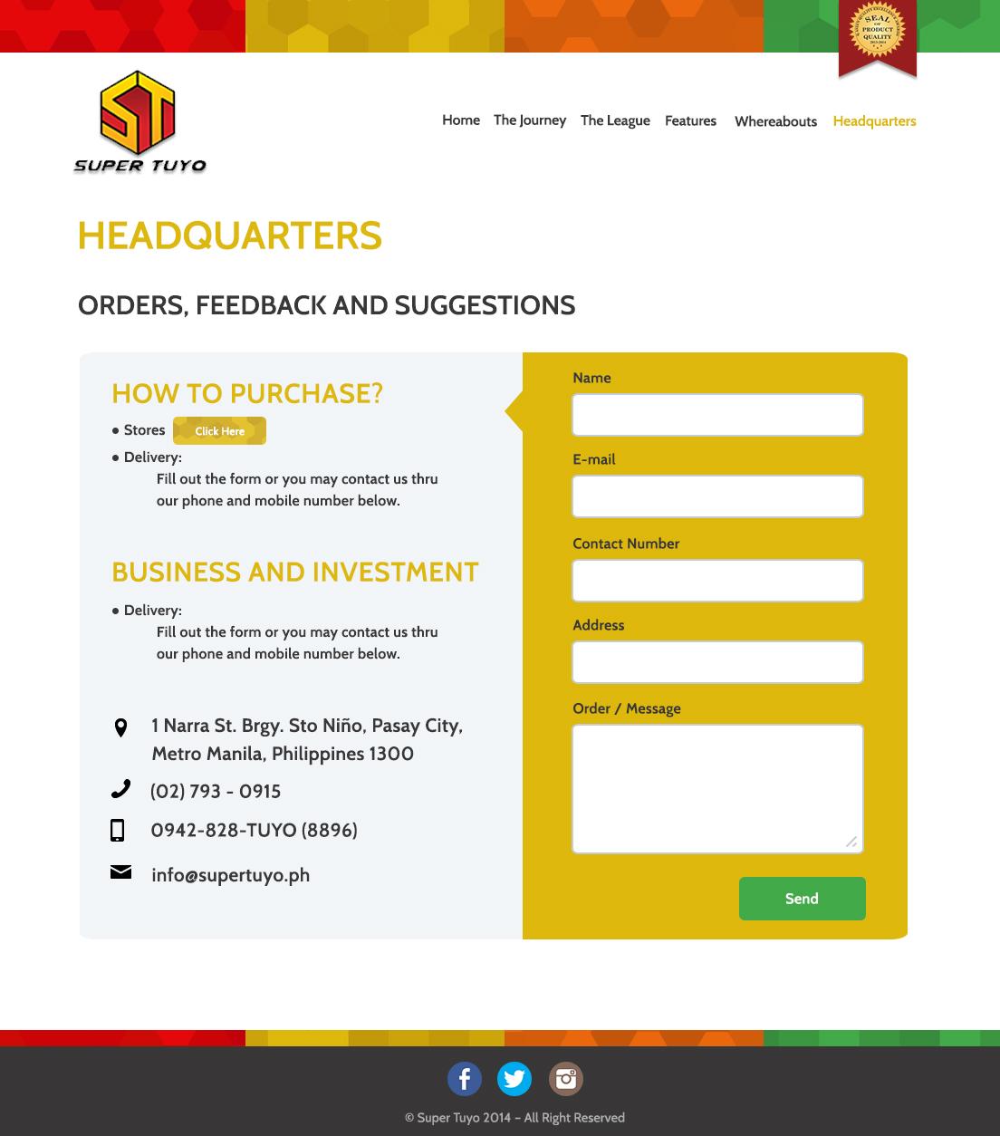Super Tuyo Website 2015