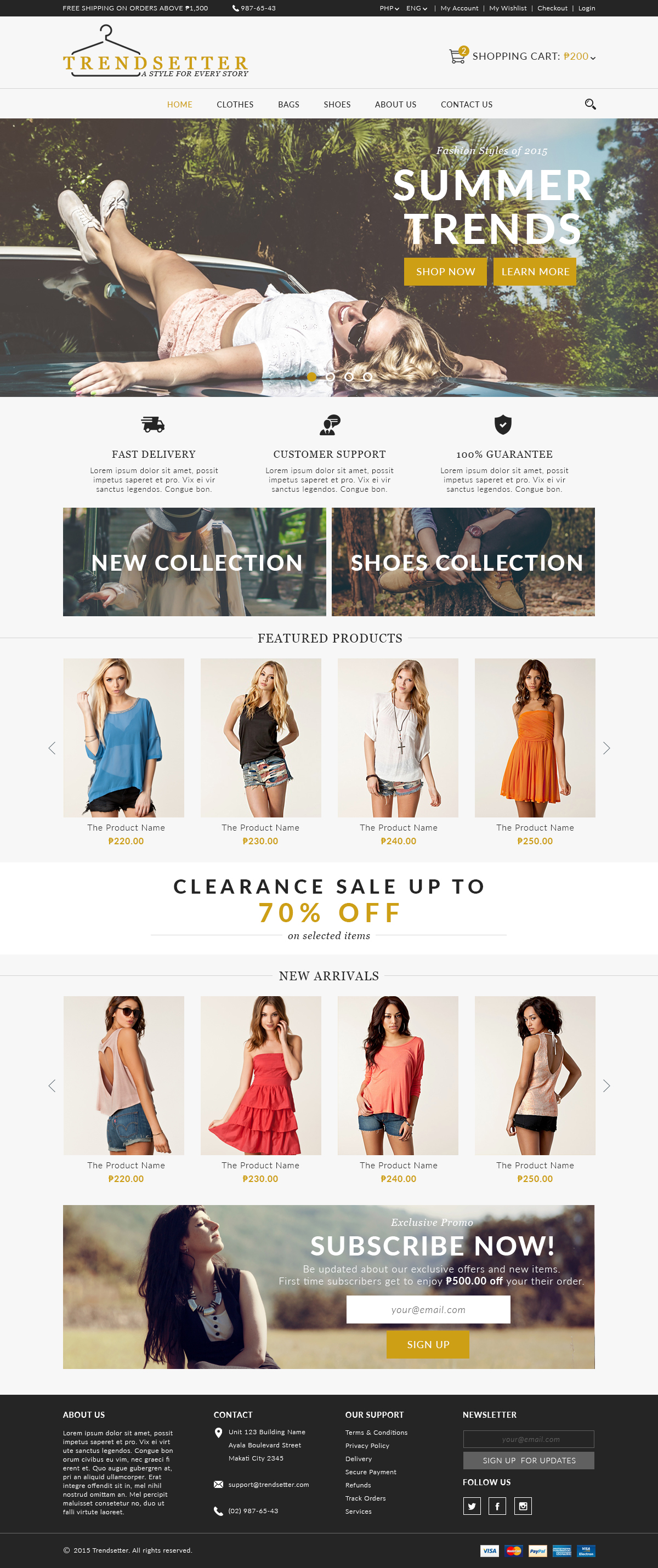 Trendsetter E-Commerce Homepage